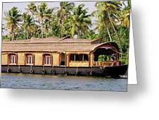 Asia, India, Kerala (backwaters Greeting Card