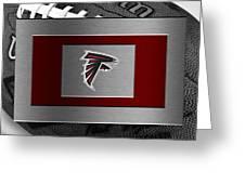 Atlanta Falcons Greeting Card by Joe Hamilton