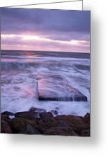 Ballyconnigar Strand At Dawn Greeting Card