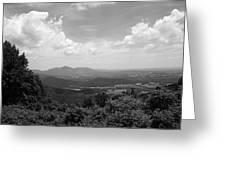 Blue Ridge Mountains - Virginia Bw 2 Greeting Card