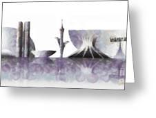 Brasilia Skyline Greeting Card