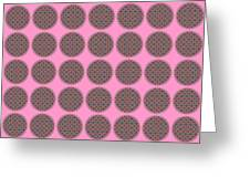 7 By 7 On Pink Greeting Card