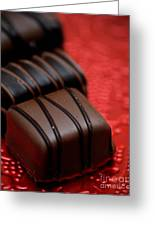 Chocolate Candies Greeting Card by Amy Cicconi