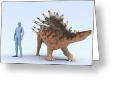 Dinosaur Kentrosaurus Greeting Card