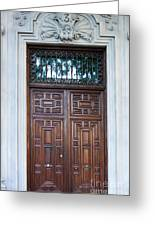 Distinctive Doors In Madrid Spain Greeting Card