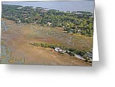 East Coast Aerial Near Jekyll Island Greeting Card