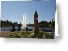 Echo Park L A  Greeting Card