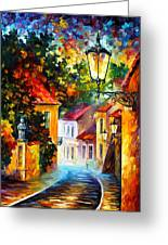 Evening Greeting Card by Leonid Afremov
