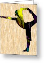 Fitness Yoga Greeting Card