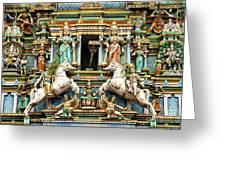 Hindu Temple With Indian Gods Kuala Lumpur Malaysia Greeting Card