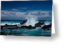Hookipa Maui North Shore Hawaii Greeting Card