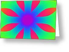 Kaleidoscope Drawing Greeting Card
