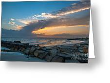 Sc Lowcountry Sunset Greeting Card