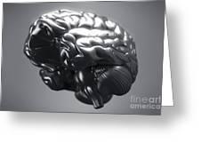 Metallic Brain Greeting Card