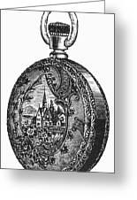 Pocket Watch, 19th Century Greeting Card