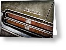 1969 Pontiac Gto Taillight Emblem -0475a Greeting Card