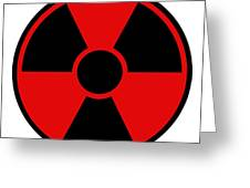 Radiation Warning Sign Greeting Card