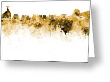 Rio De Janeiro Skyline In Watercolor On White Background Greeting Card