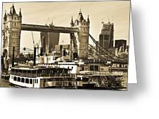 River Thames View Greeting Card