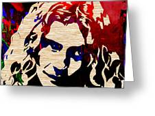 Robert Plant Greeting Card by Marvin Blaine