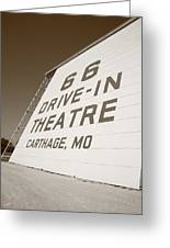 Route 66 Drive-in Theatre Greeting Card