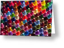 Rows Of Multicolored Crayons  Greeting Card