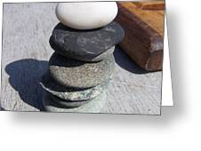 7 Stone Cairn Greeting Card
