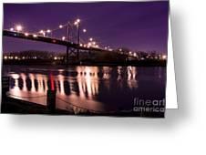 Suspension Bridge Greeting Card