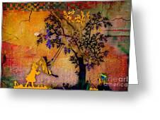 Tree Wall Art Greeting Card