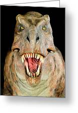 Tyrannosaurus Rex Model Greeting Card