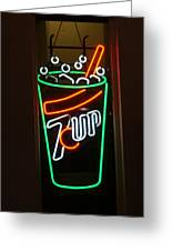 7 Up Sign Greeting Card