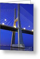 Vasco Da Gama Bridge In Lisbon Greeting Card
