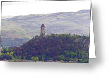 View Of Wallace Monument From The Heights Of The Stirling Castle Greeting Card