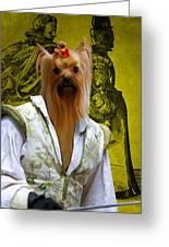 Yorkshire Terrier Art Canvas Print Greeting Card