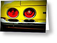 71 Camaro Tail Lights Greeting Card