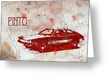 71 Pinto Greeting Card