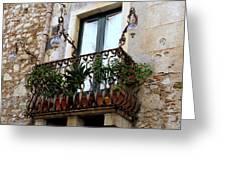 Views Of Taormina Sicily Greeting Card
