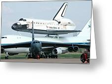 747 Transporting Discovery Space Shuttle Greeting Card