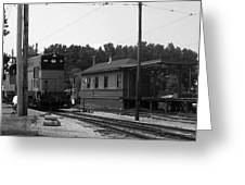 760 Passing The Yard House Bw Greeting Card