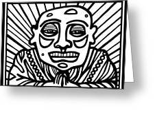 Lorton Buddha Black And White Greeting Card
