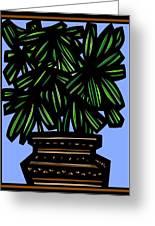 Kisiel Plant Leaves Green Black Greeting Card