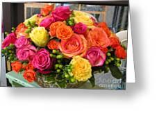 #790 D300 Roses Super Bright Greeting Card