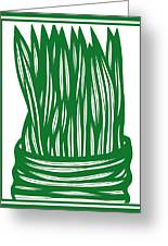 Hassenplug Plant Leaves Green White Greeting Card