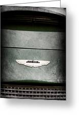 1959 Aston Martin Db4 Gt Hood Emblem Greeting Card