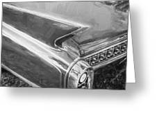 1960 Cadillac Eldorado Biarritz Convertible Painted Bw    Greeting Card