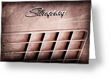 1972 Chevrolet Corvette Stingray Emblem Greeting Card