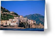 Amalfi Town In Italy Greeting Card by George Atsametakis