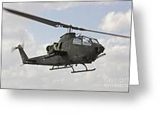 An Ah-1s Tzefa Attack Helicopter Greeting Card