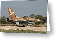 An F-16a Netz Of The Israeli Air Force Greeting Card
