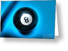8 Ball Greeting Card